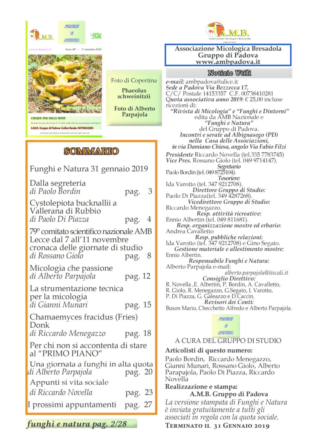 Calendario Funghi.Ambpadova Associazione Micologica Bresadola Gruppo Di Padova
